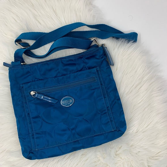 Coach Handbags - Teal Blue Coach Messanger Bag